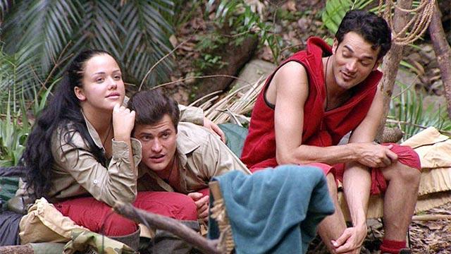 Camp-Insassen Kim und Rocco und Neurotiker DLo