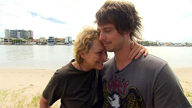 Mutter und Sohn Fernsehgarten in Australien