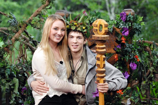 Dschungelkönig 2013 Joey Heindle mit Freundin