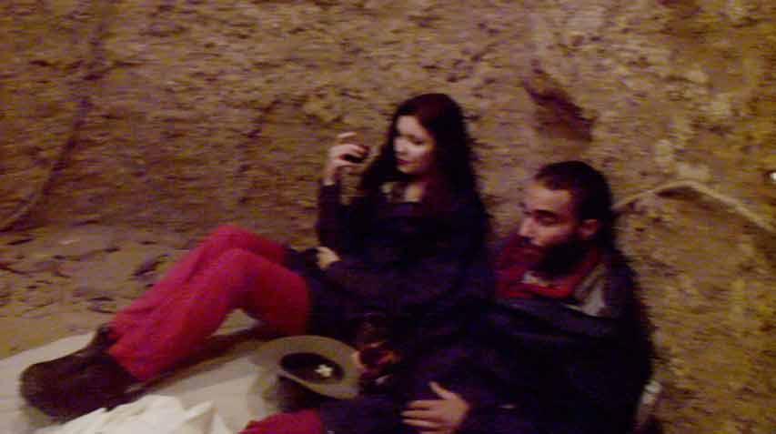 Nathalie und David bei der Schatzsuche