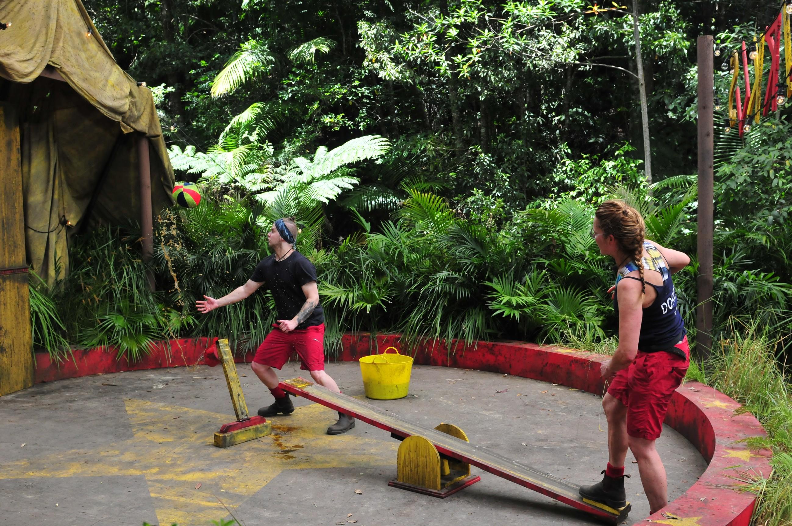 Schmodder-Wippe in der Dschungelprüfung