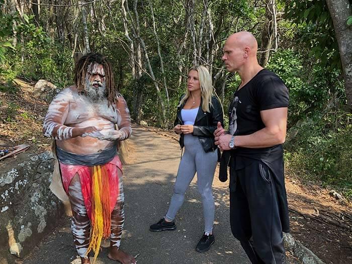 Aborigine beschmiert den Kasalla-Mann