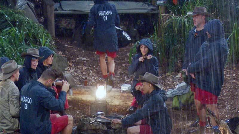Regen im Dschungelcamp Tag 2