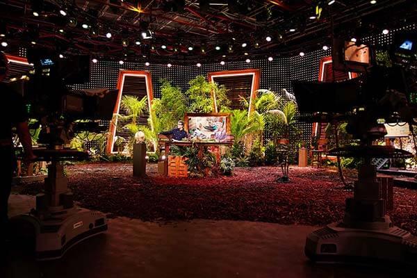Das Studio der Dschungelshow 2021