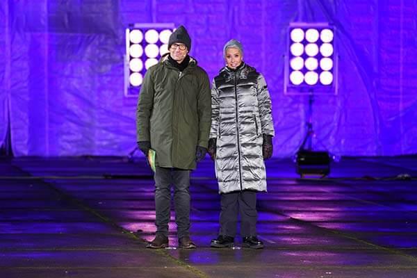 Daniel und Sonja in Winterkluft in Hürth