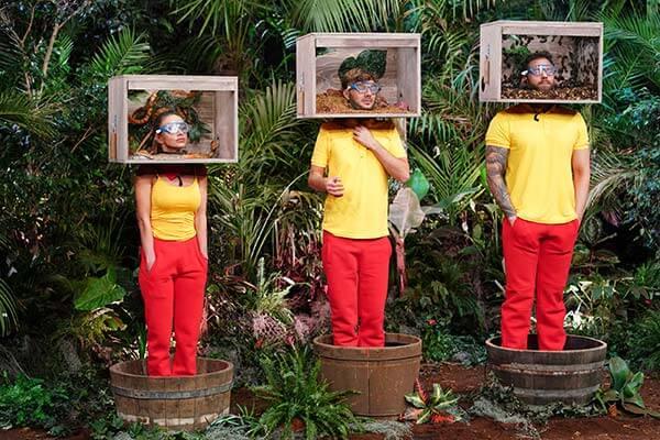 Die 3 Promis bei ihrer 1. Dschungeltauglichkeitsprüfung