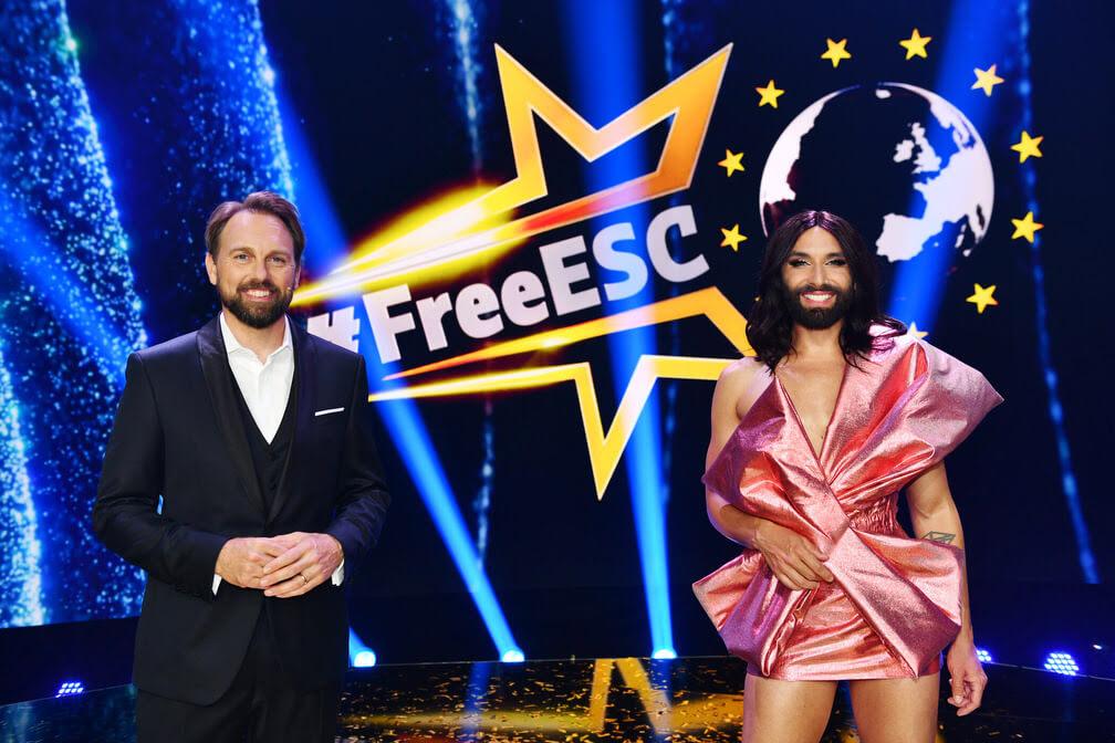 #freeESC mit Steven Gätjenund Conchita Wurst;