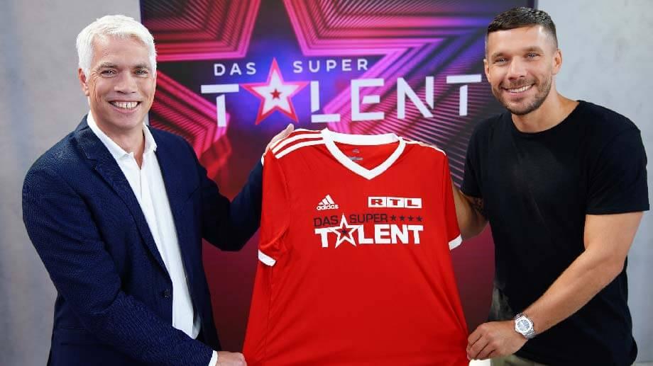 Henning Tewe und Lukas Podolski für DAS SUPERTALENT